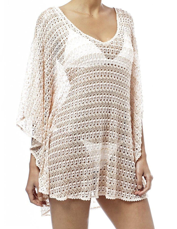 d0d276c667f Womens Crochet Swimwear Beach Dress Tops Bikini Swimsuit Cover Up - Pink -  CZ1836W6Z4U,Women's Clothing, Swimsuits & Cover Ups, Cover-Ups #women  #fashion ...