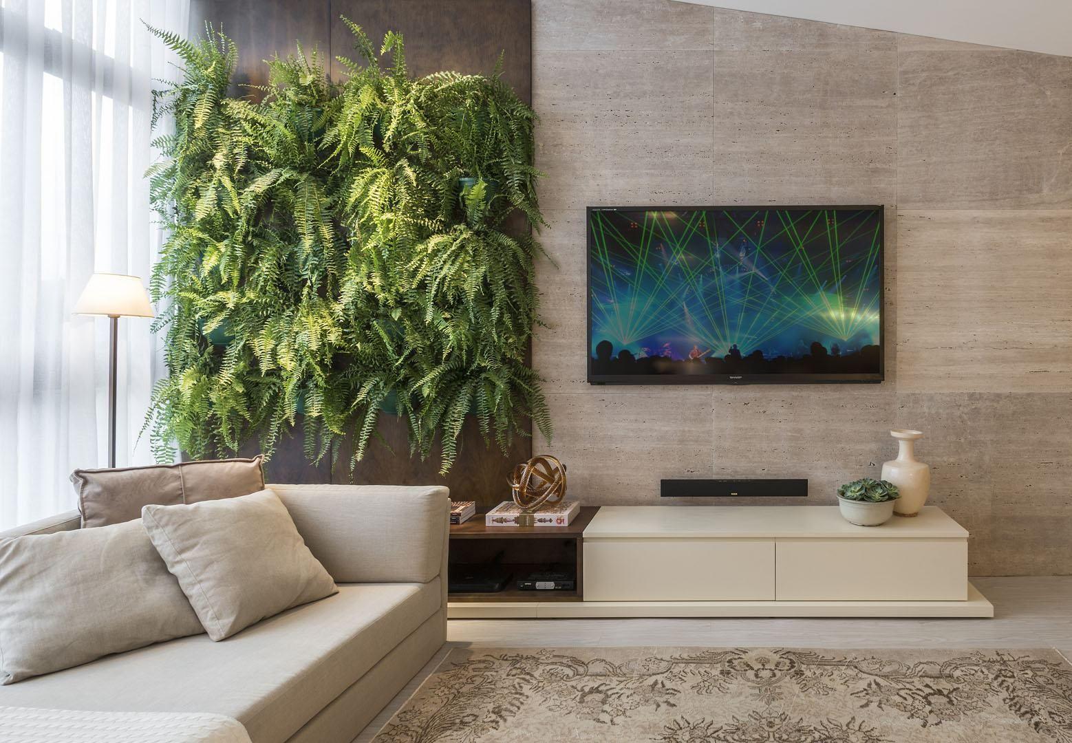 Imagem62 Home Theater Painel Tv Estantes Decora O  ~ Home Tv Quarto Casal Com Painel Quarto Infantil