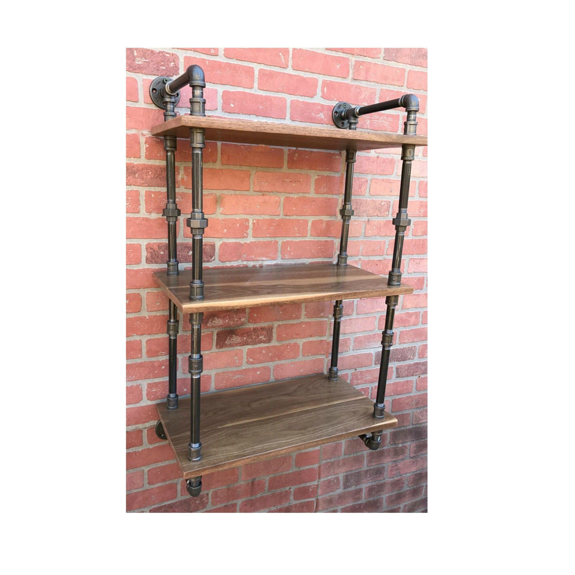 Industrial Shelf, Pipe Shelf, Shelves, Rustic Kitchen Bathroom Closet Open