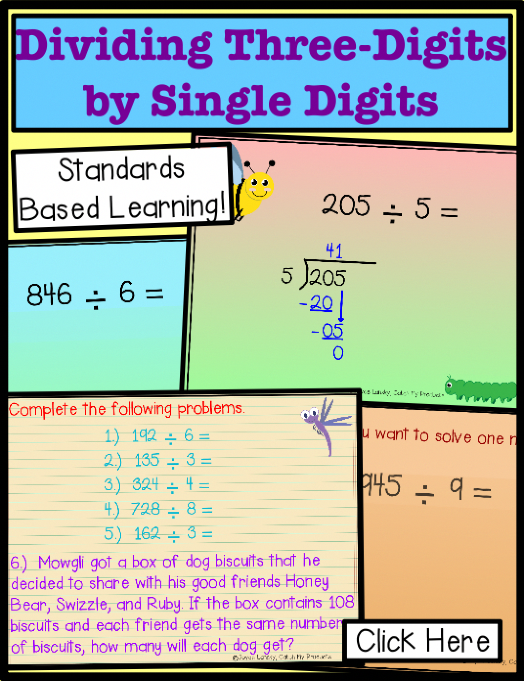 Teaching Long Division Is Easy With Practice For 4th Grade