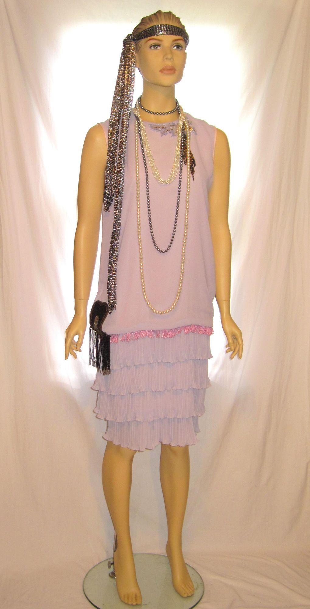 women's light blue great gatsby dress lavender 1920s