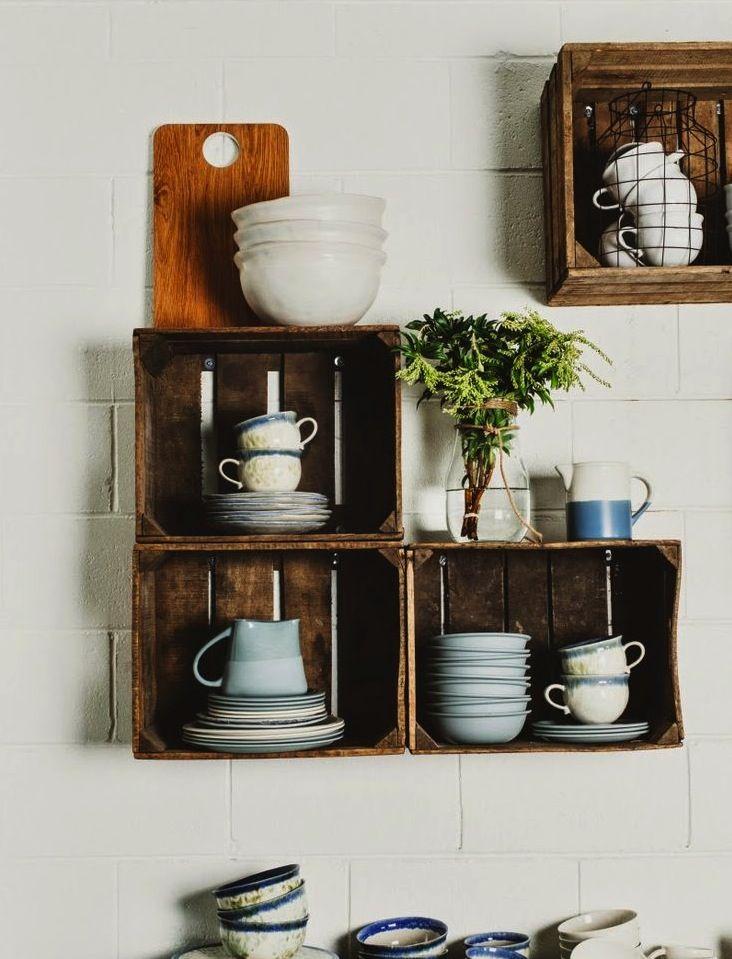 Kistjes | Cajas de madera, Cajas de madera estanteria ...