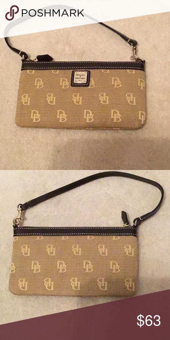 8527486873ba DONNEY   BOURKE Downey   Burke Gold Hardware Brown Small Purse Beige Brown  - New Dooney   Bourke Bags Mini Bags