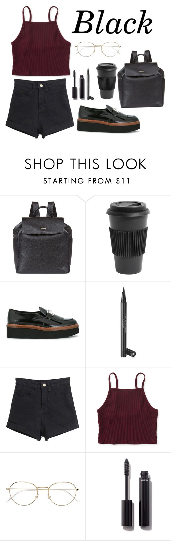 """""""Black outfit⚫️"""" by jillvs ❤ liked on Polyvore featuring DKNY, Homage, Tod's, Chanel, Aéropostale and RetroSuperFuture"""