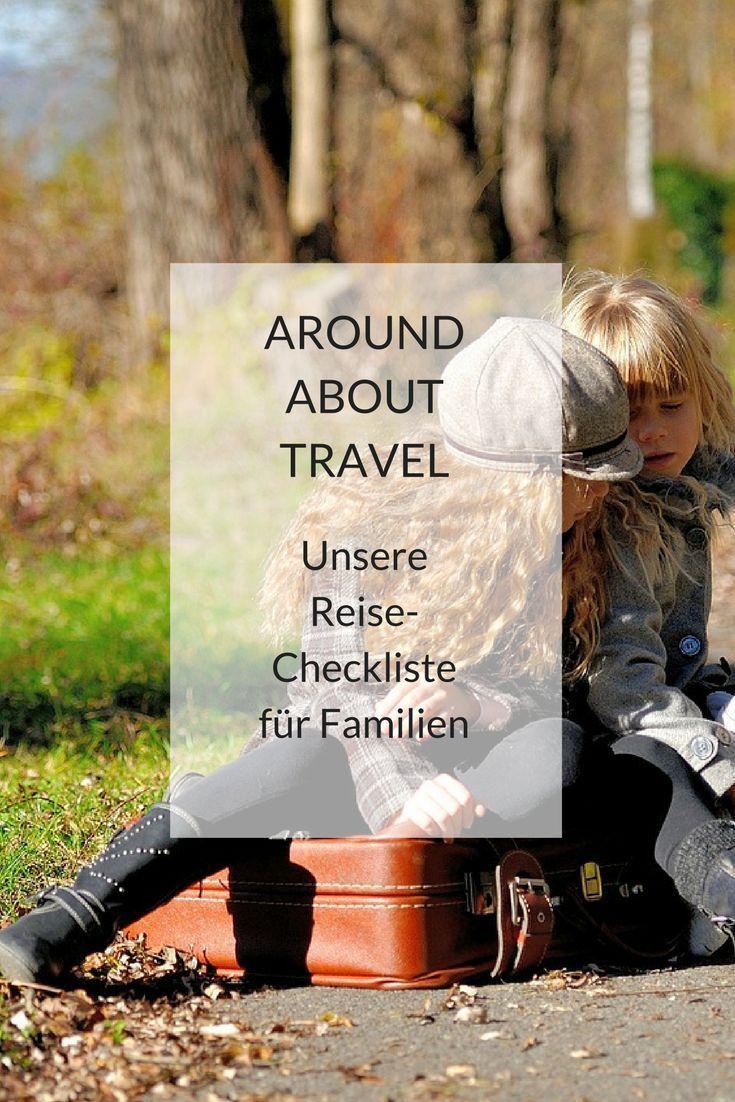 reisecheckliste für größere kinder  reisen