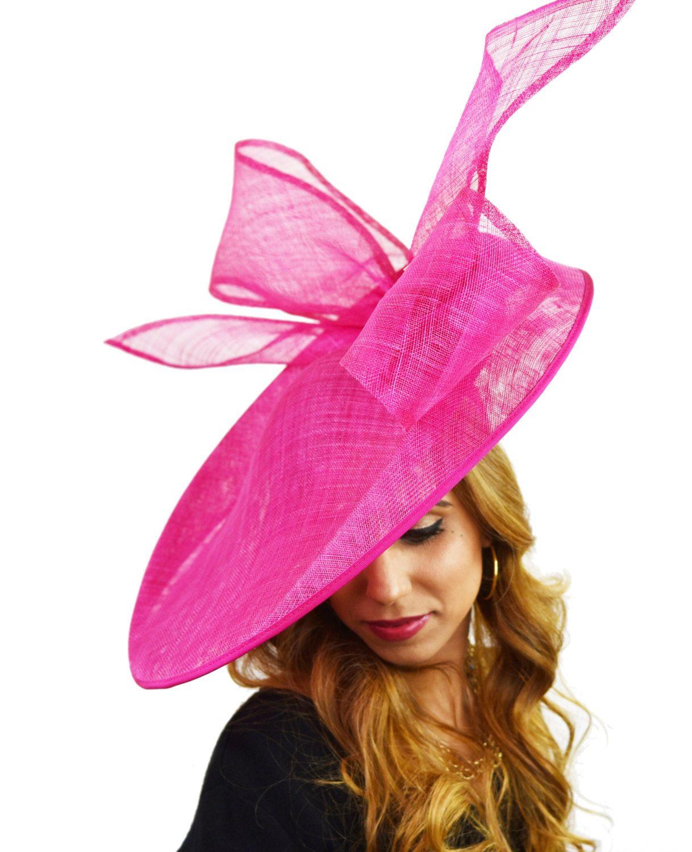 Fuchsia Pink Barn Owl Fascinator Hatinator Hat Flat Hats Fascinators