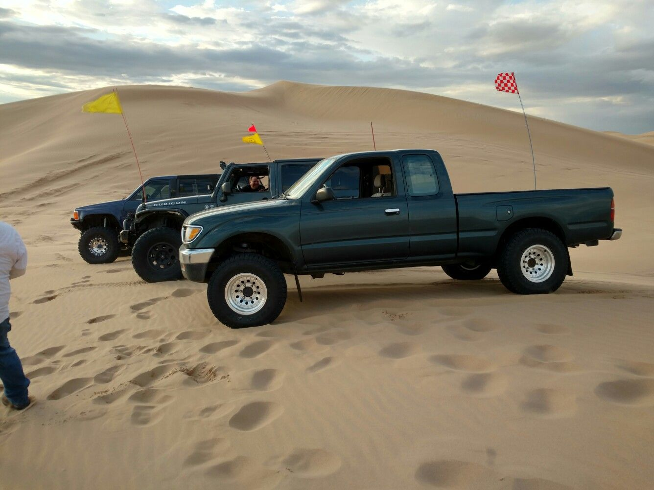 hight resolution of 1996 toyota tacoma 4x4 in the sand dunes glamis california