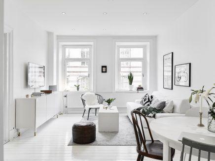 kleine witte woonkamer met witte meubels woonkamer pinterest
