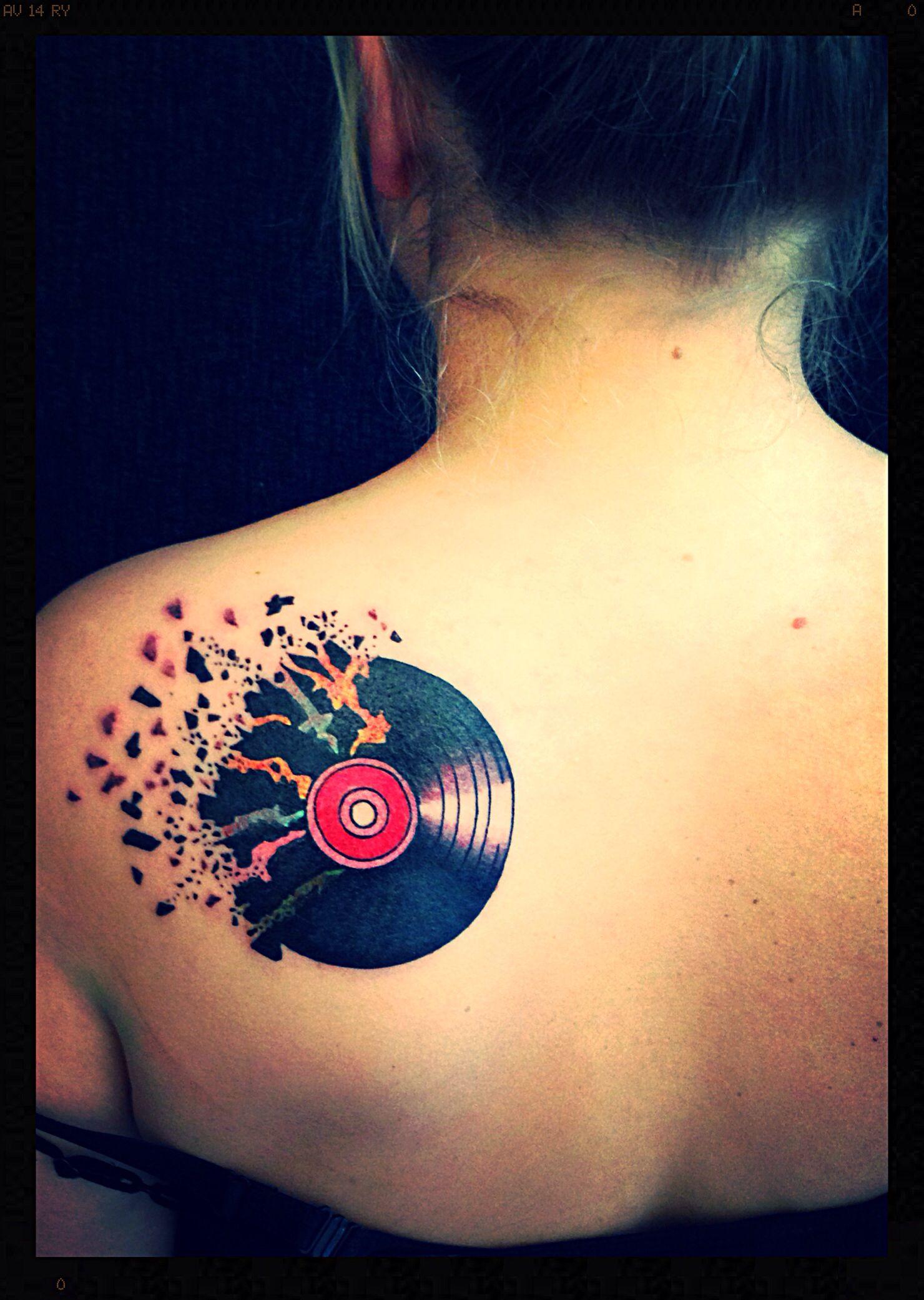 Rock N Roll Tattoo Ideas: Shattered LP Tattoo! Rock 'n Roll, Music, Ink