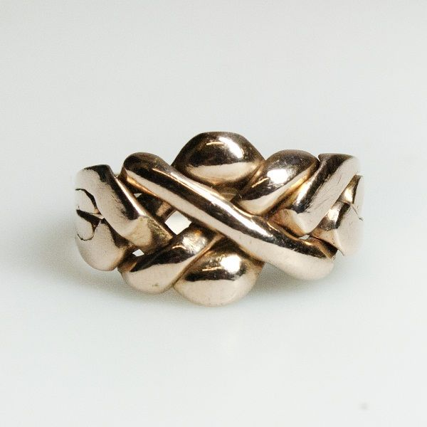 antique rose gold love knot puzzle ring from leila london engagement ring pricesturkish weddingpuzzle