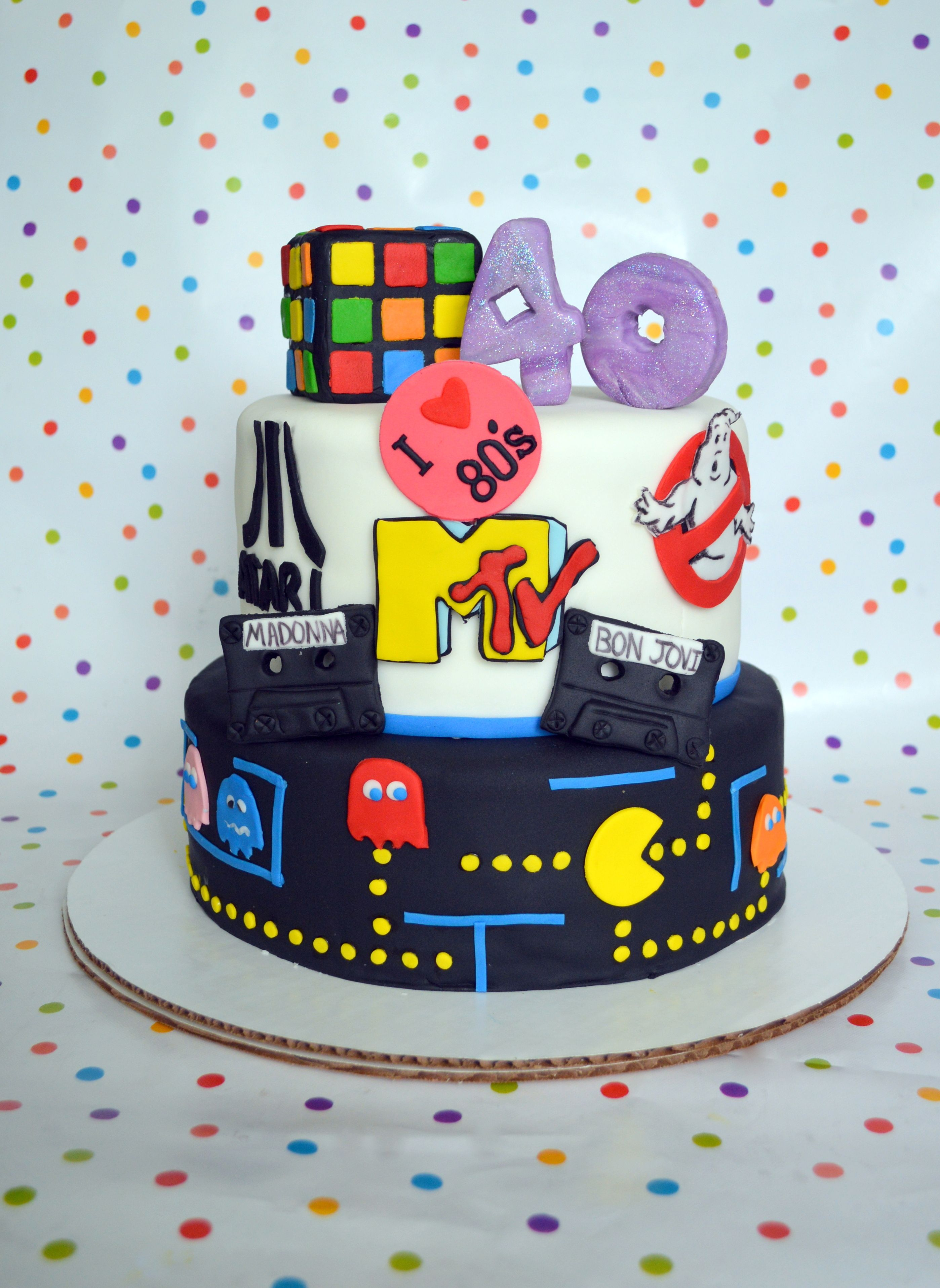 80 S Party Cake Decoration 100 Edible Cake Decorating Kits