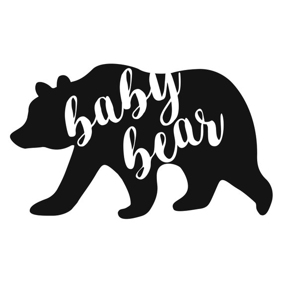 Baby Bear Svg Bear Family Svg Baby Bear Dxf Bear Mom Svg Baby Bear Cricut Baby Bear Silh Bear Decal Mama Bear Decal Bear Silhouette