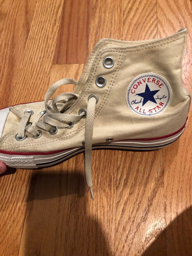 565b027c3394 Converse CHUCK TAYLOR All Star High Top Creme Vintage 1999  fashion   clothing  shoes  accessories  unisexclothingshoesaccs  unisexadultshoes (ebay  link)