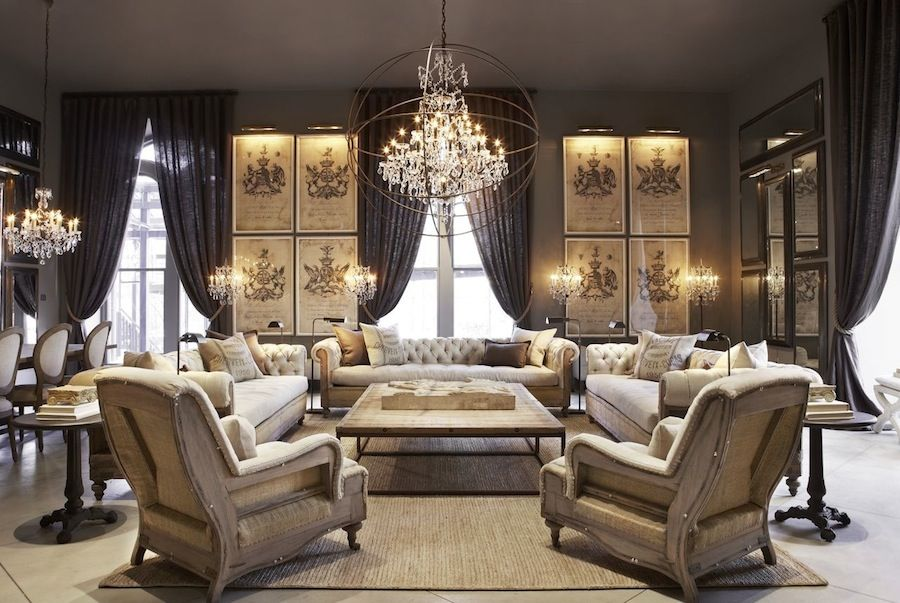 OMG  love this look for a living room Restoration Hardware Beautiful Living Room