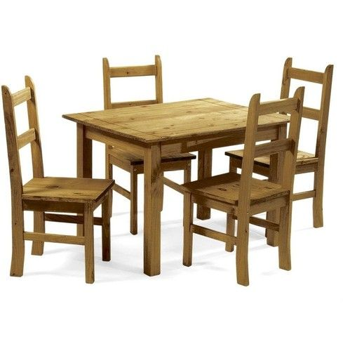 Mexican Pine Dining Table And 4 Chairs Lesgazouillis