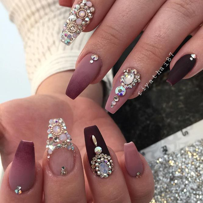 30 Amazing Rhinestone Nail Art Designs Ecstasycoffee: 27 Wedding Fall Nails Designs That Inspire (With Images