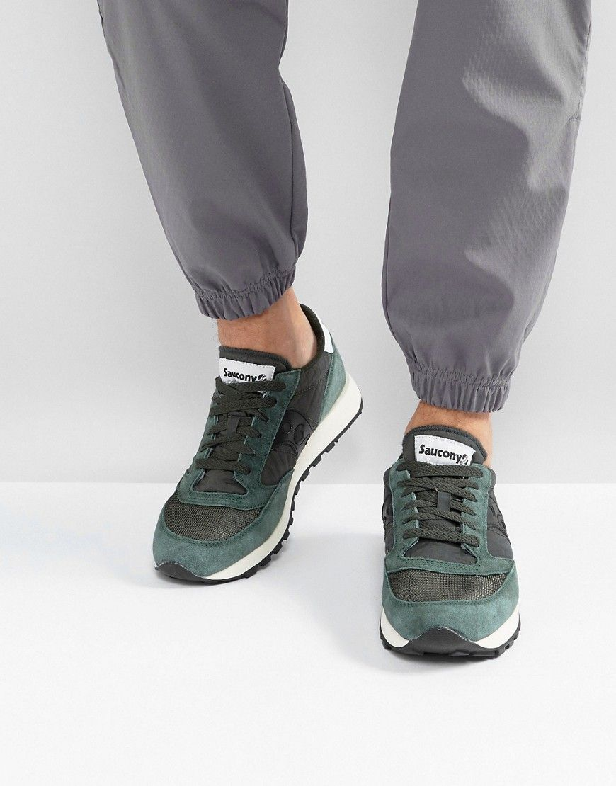b25387dafae7 SAUCONY JAZZ ORIGINAL VINTAGE SNEAKERS IN GREEN S70368-8 - GREEN.  saucony   shoes