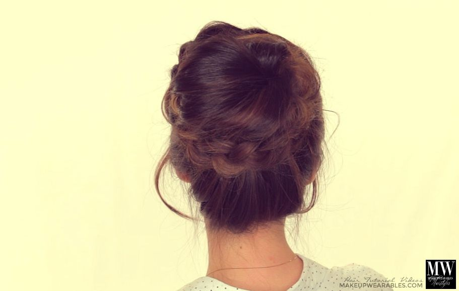 Prom Wedding Updo Hairstyle Tutorial Topknot Messy Bun If I Had