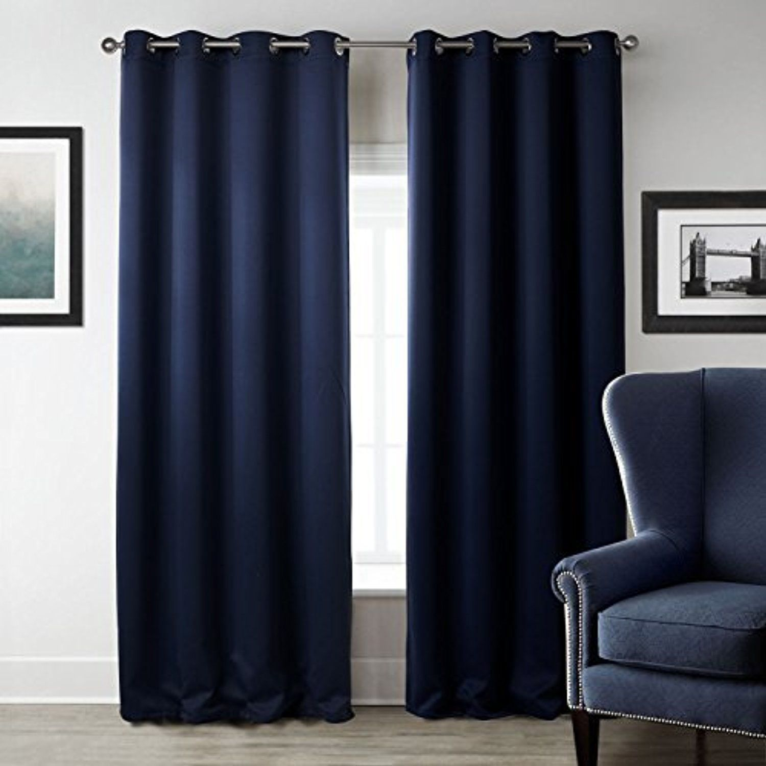 Sleep Well Blackout Curtains Toxic Free Energy Smart Thermal Insulated 52 W X 84 L Inch Grommet Top Set Of 2 Panel Curtains Living Room Curtains Bedroom Blinds