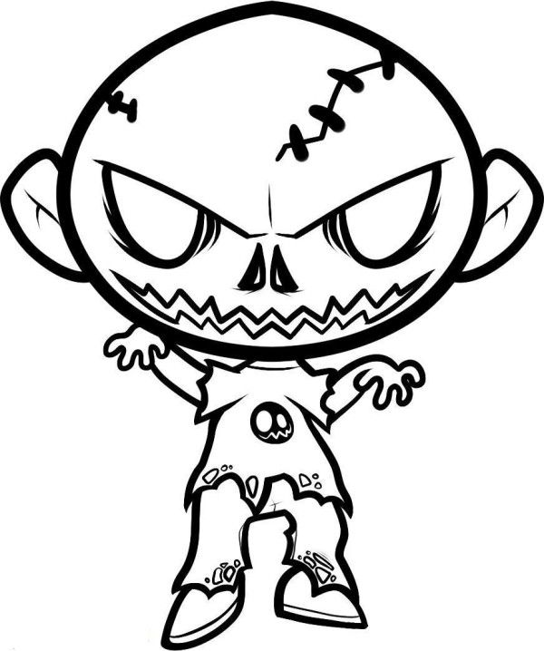 scary monkey coloring pages | Halloween Coloring Pages Zombie | HALLOWEEN | Zombie ...