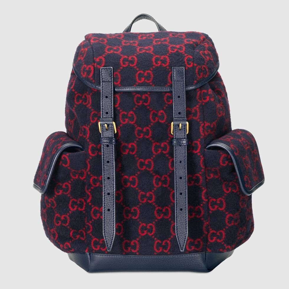 Photo of Gucci Small GG wool backpack