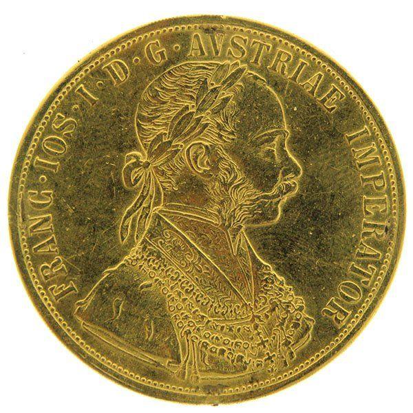 Austria Franz Joseph I Gold 4 Ducat Coin 1900 Coins Joseph Gold
