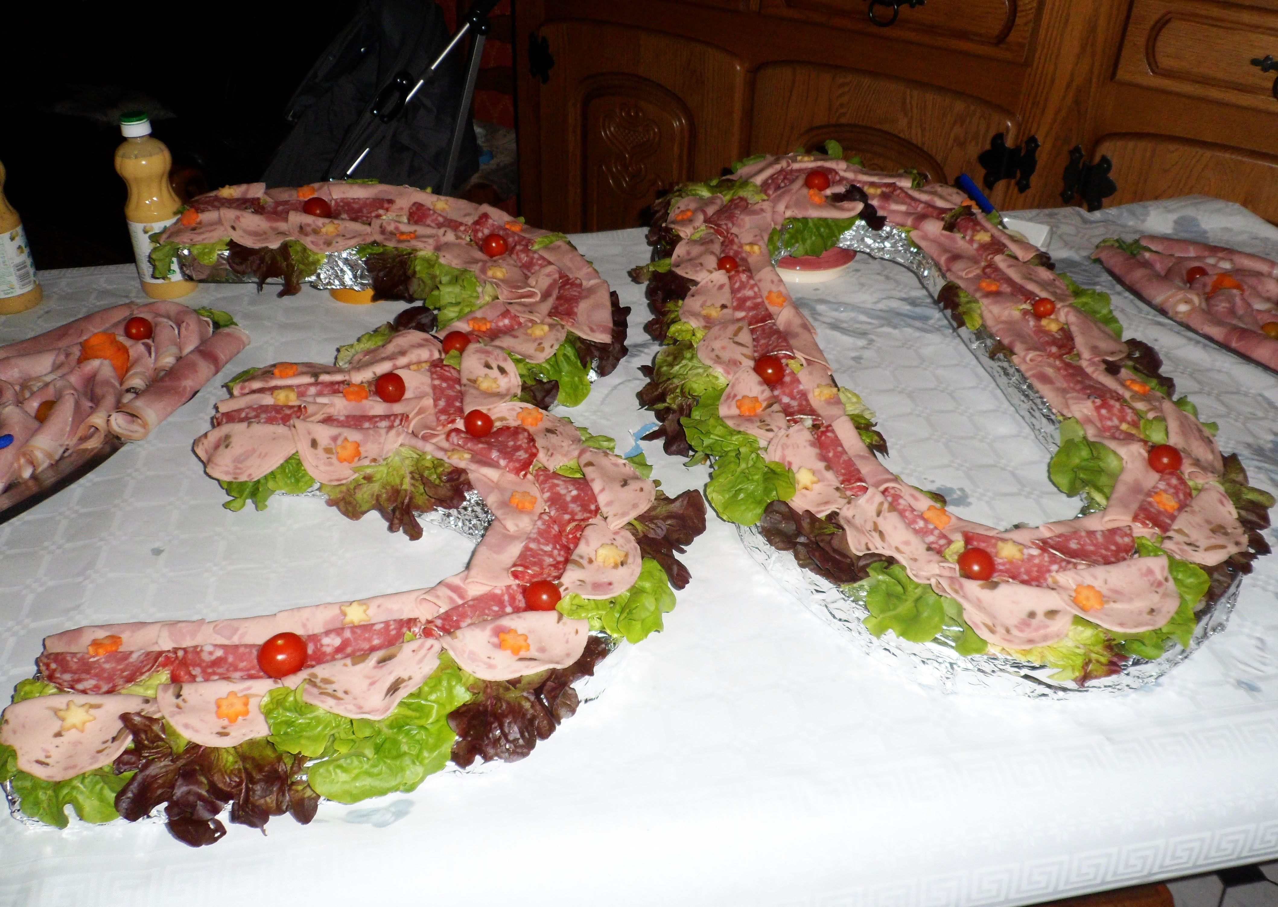 idee repas anniversaire buffet froid