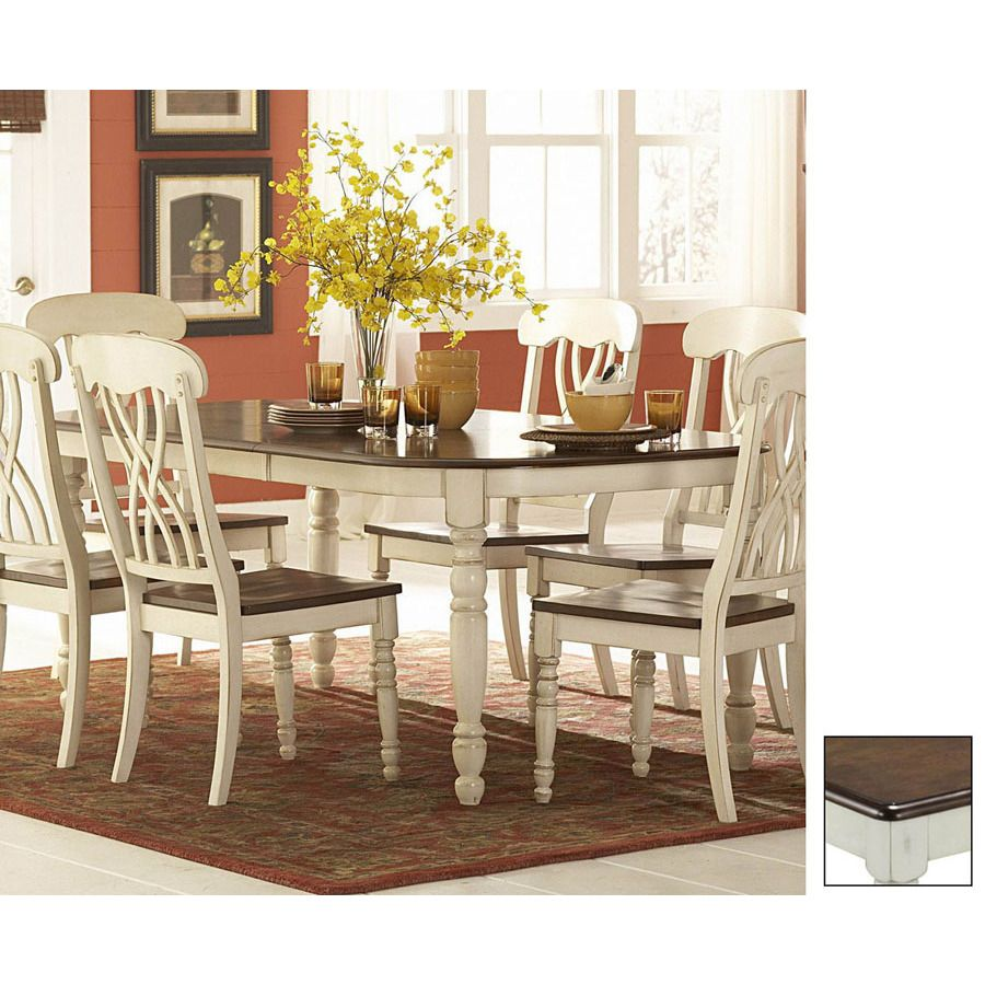 Antique White Dining Room Cherryantique White Rectangular Dining Table At Lowes  For