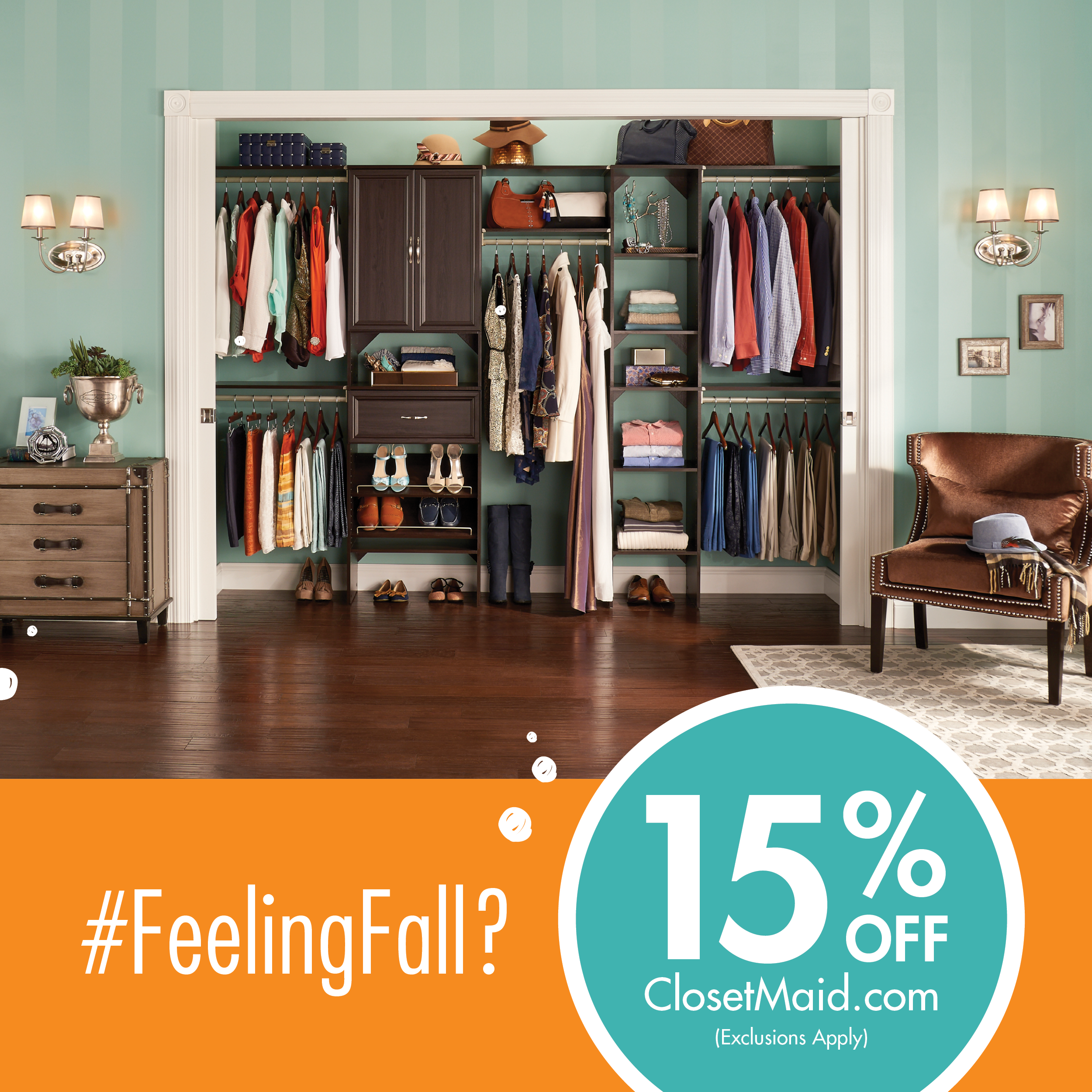 Get Your Home Fall Ready Today With 15% Off Your ClosetMaid.com Order!