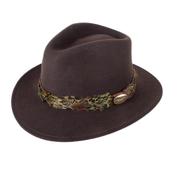 139b3743278d1 The Suffolk Fedora in Dark Brown (Pheasant Feather Wrap)   Wish list ...