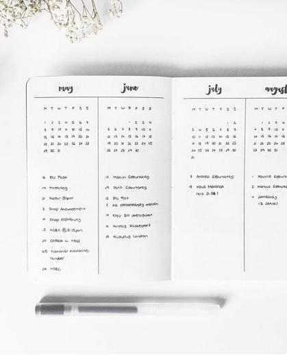 29 Bullet Journal Future Log Ideas + FREE Future Log Printable