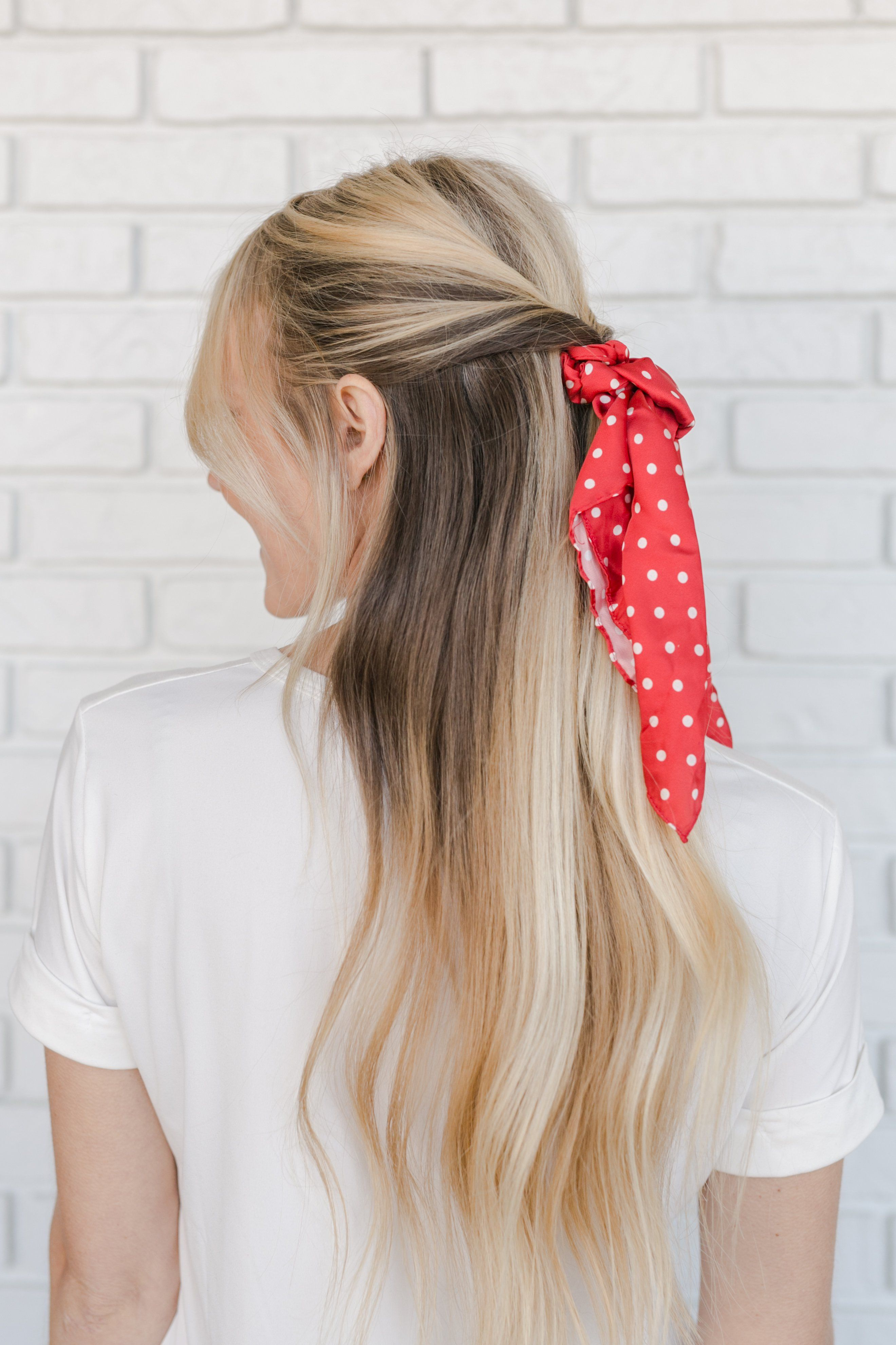 5 Ways To Wear The Scrunchie Trend A Beautiful Mess Easy Hairstyles Simple Prom Hair Scrunchie Hairstyles