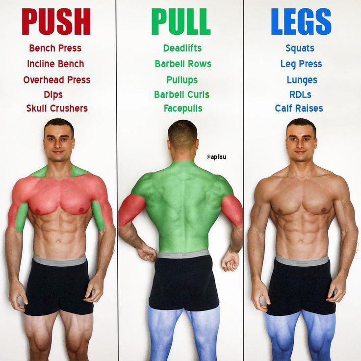 Push / Pull / Legs Krafttraining Trainingsplan für 7 Tage - #Fitness