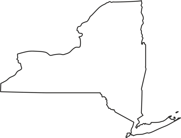 Blank New York Map Clipart Best Clipart Best Kittys