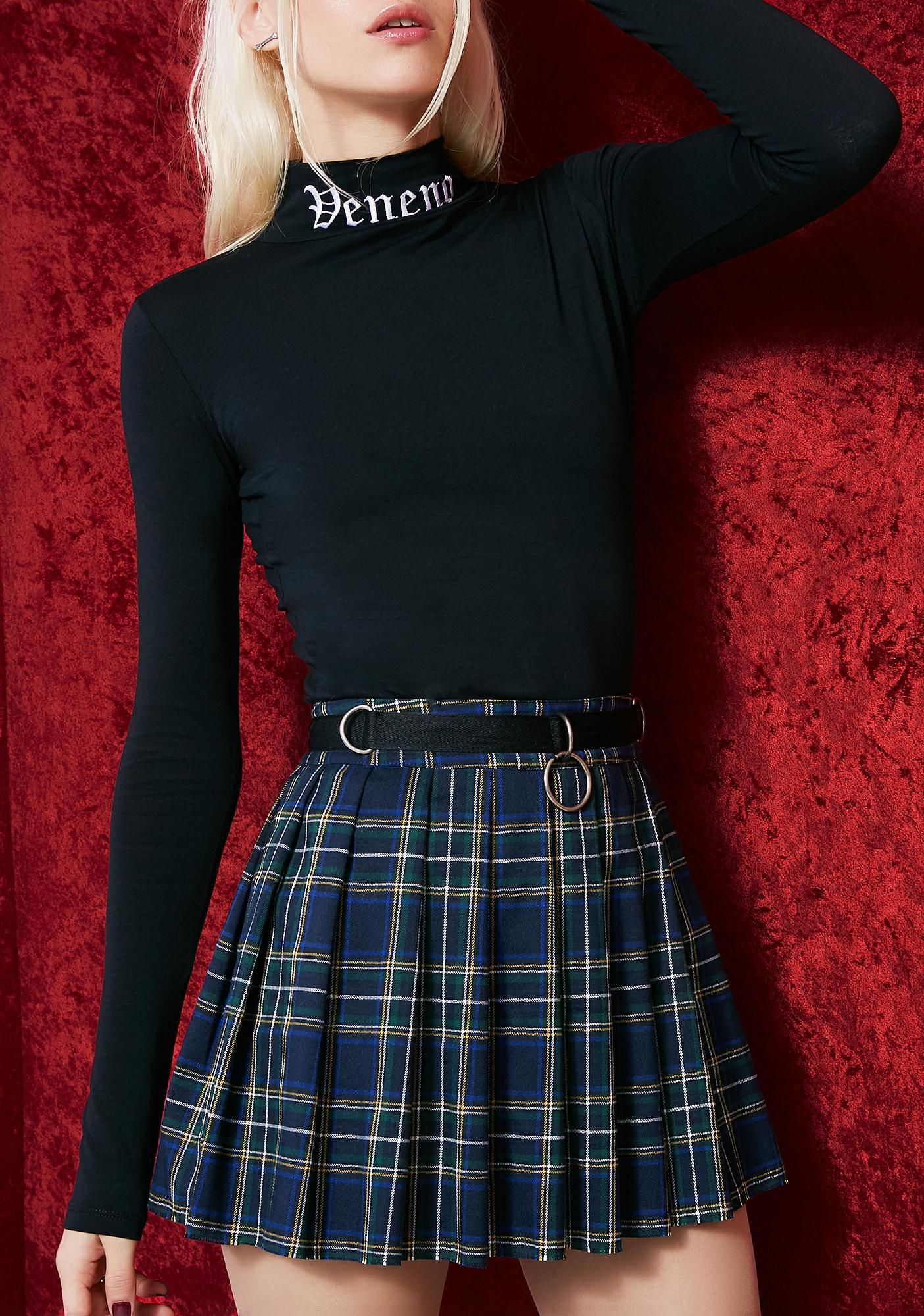 de58ef528bab6d Current Mood Dress Code Plaid Skirt hope you can keep all my dirty secrets.  This