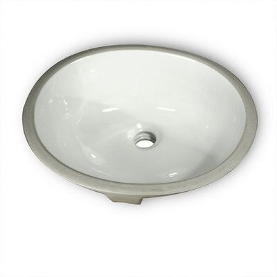 Nantucket Sinks Oval Glazed Ceramic Bathroom Sink