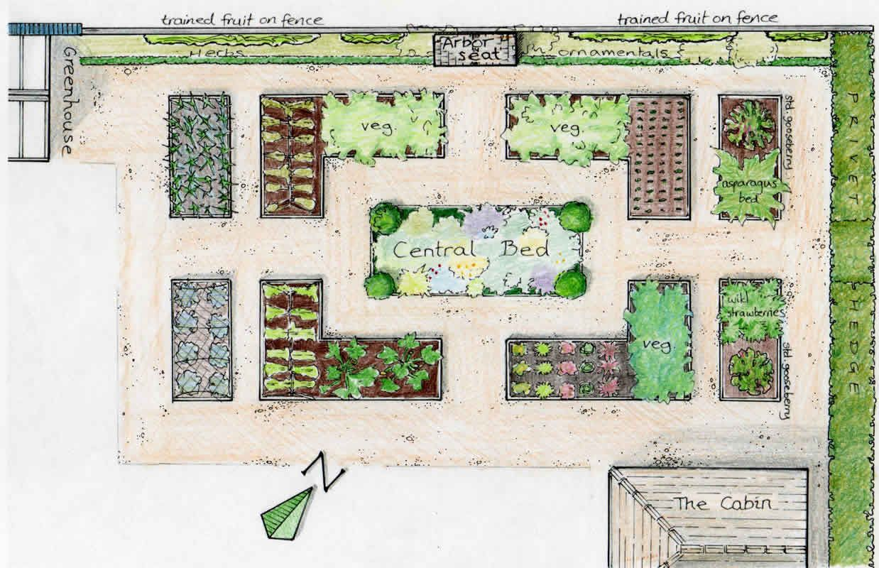 The vegetable garden vegetable garden raised bed and for Backyard landscape layout