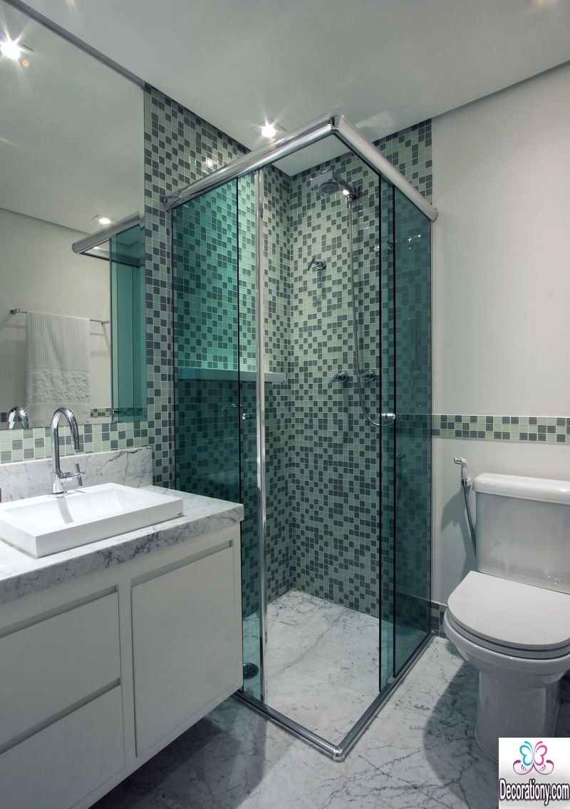 Graue nasszellenfliesen ideen für kleines bad renovieren  ideen für kleines bad renovieren