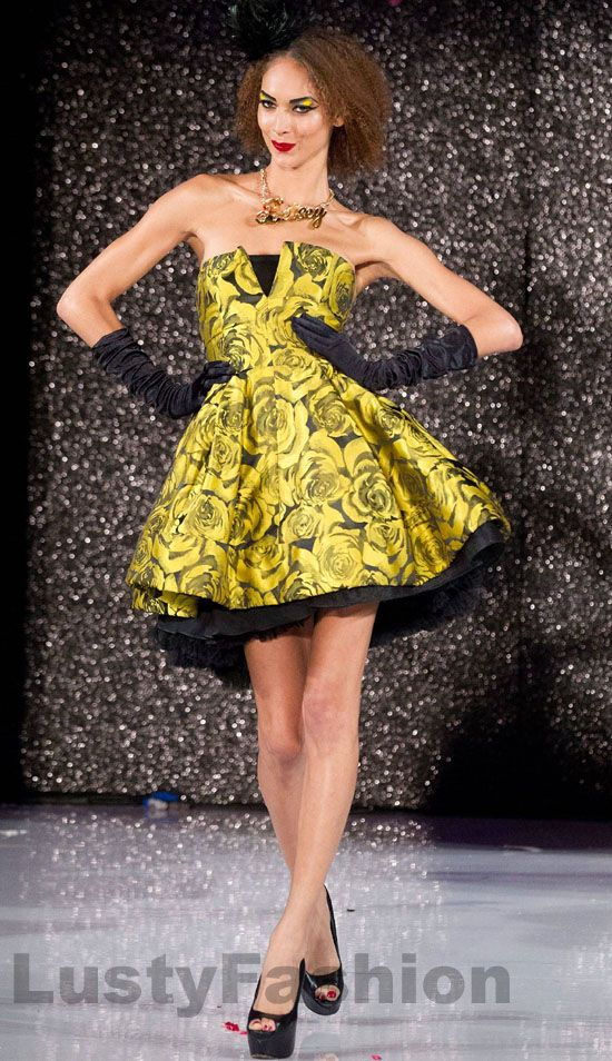 yellow and black prom dress | ♡ YELLOW ♥ BLACK ♡ | Pinterest ...