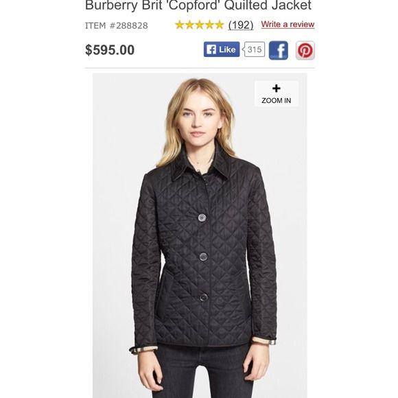Burberry Jackets & Blazers - Authentic Burberry Brit copford ... : burberry brit copford quilted jacket black - Adamdwight.com