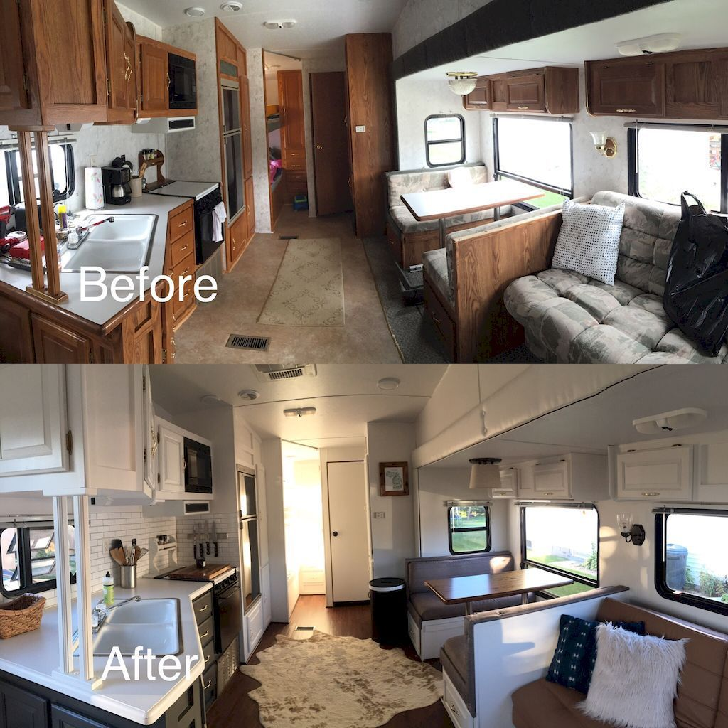 Camper Remodel Ideas For Renovating Rv Travel Trailers (32