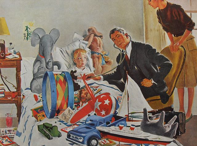 1960s AMERICAN MAGAZINE Illustration Doctor Kids Bedroom Toys Vintage By Christian Montone Via Flickr