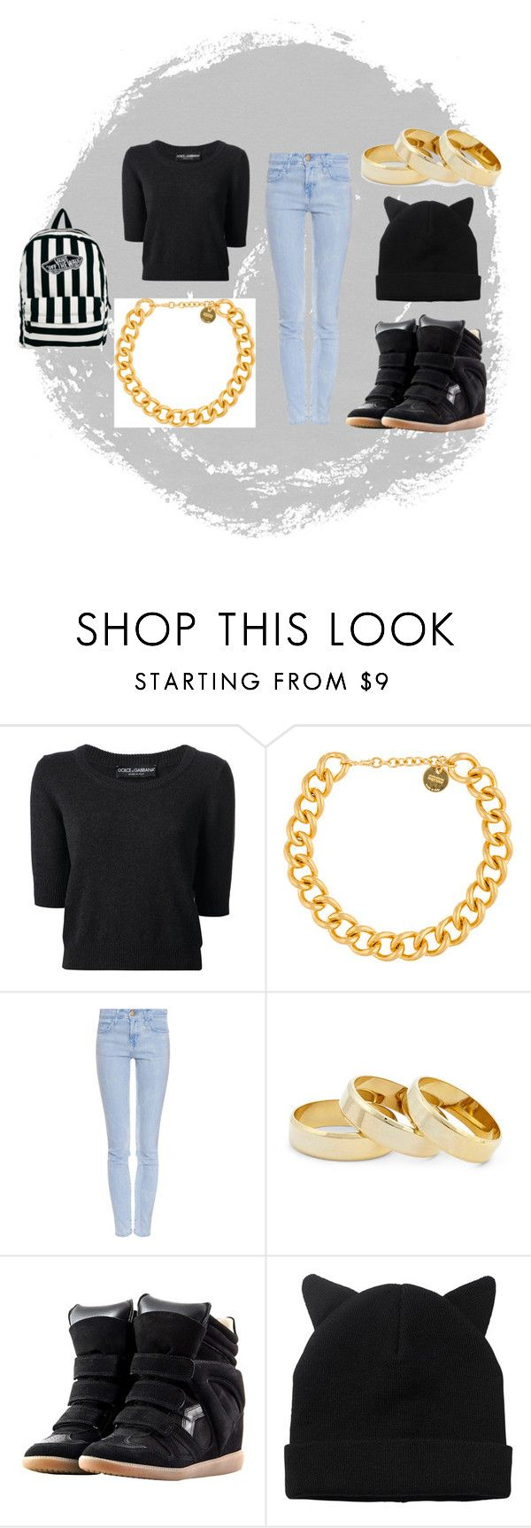 """Sans titre #2"" by mililondres ❤ liked on Polyvore featuring Dolce&Gabbana, Alexander McQueen, Current/Elliott, Sole Society, Monki and Vans"