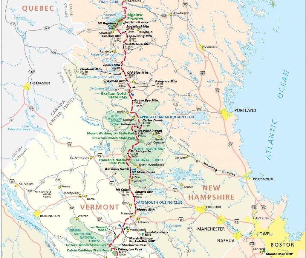Photos Of Hiking Trail Maps Appalachian Trail Map Click For - Appalachian trail us map