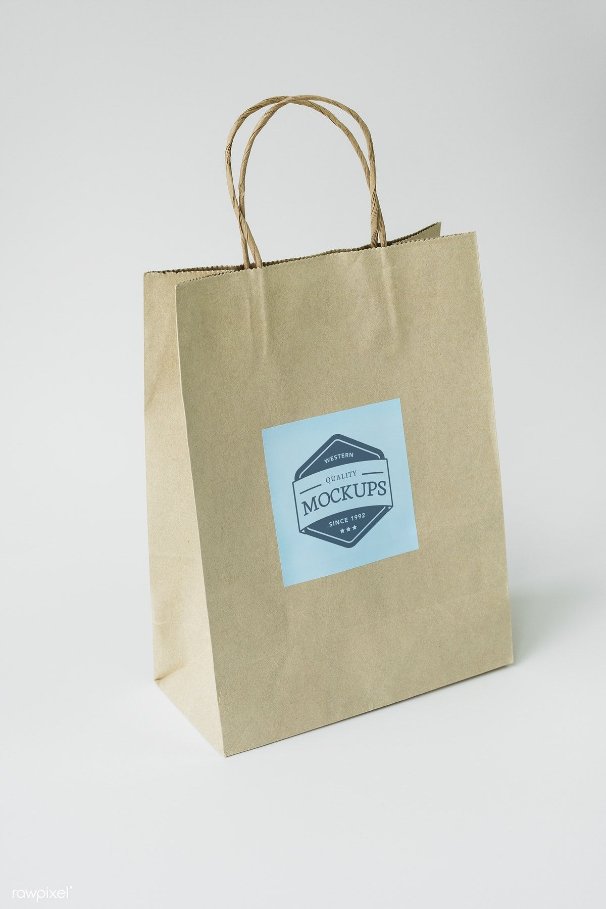 3962+ Paper Bag Logo Mockup DXF Include