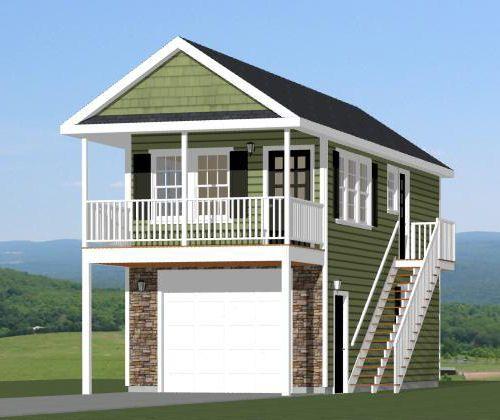 Details About 20x32 House 1 Bedroom 2 Car Garage