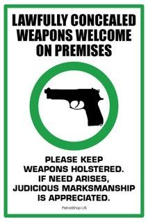 Lawfully Concealed Weapons Welcome