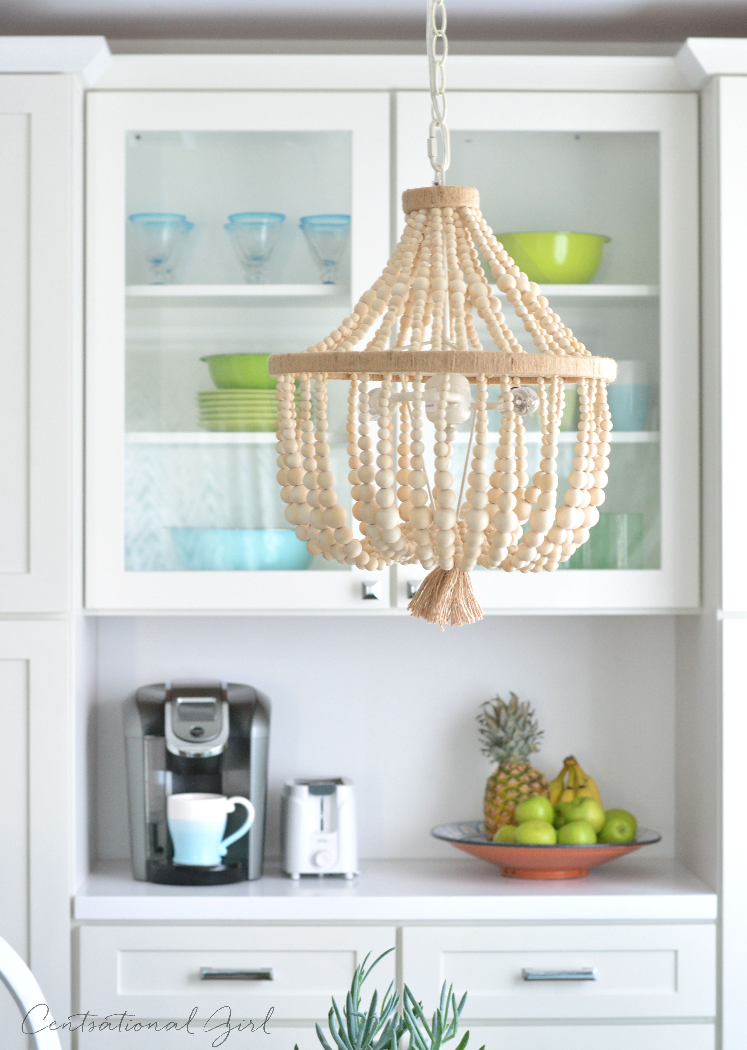 breakfast nook beaded chandelier Ideas for the House