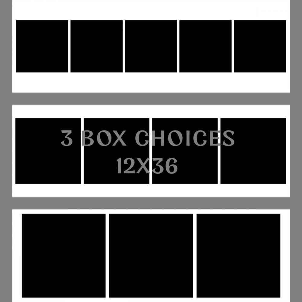 In the Box SINGLE BOX PHOTO with White Grid  Photoshop Digital Template for Inside the Box Compositing
