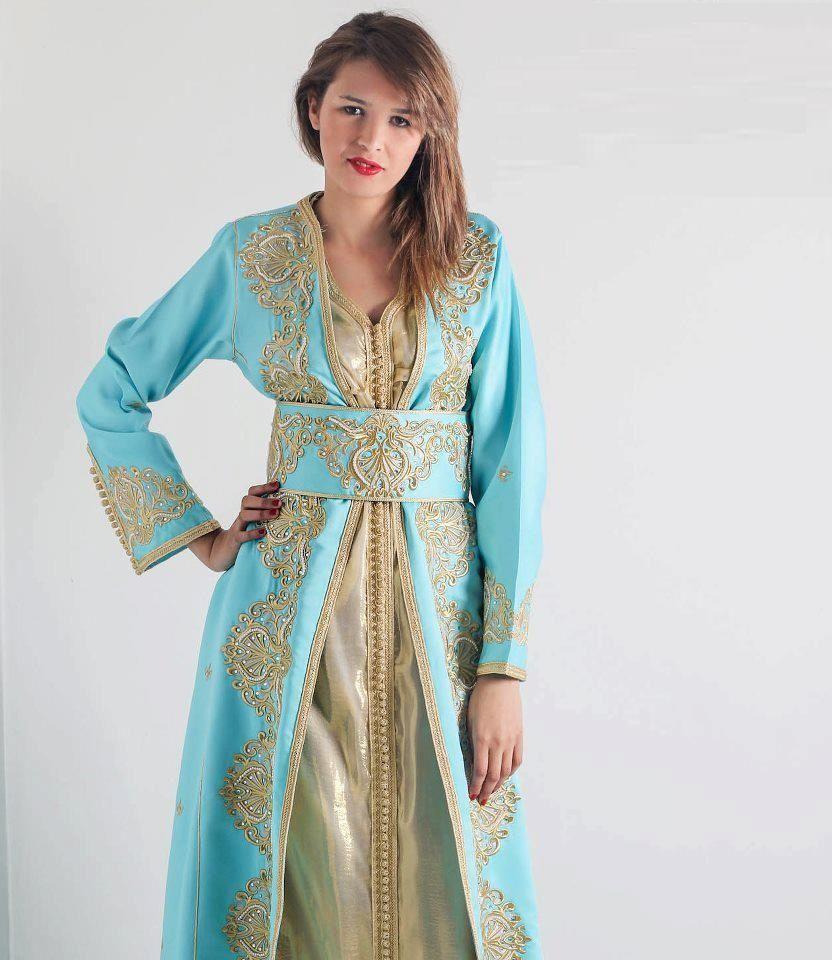 Tenue marocaine traditionnelle pour femme , caftan catalogue